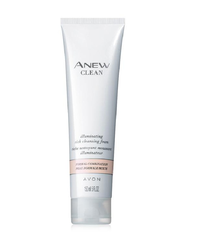 avon anew clean cleansing foam