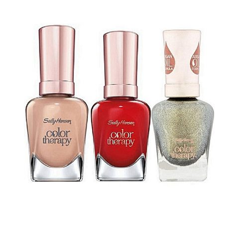 Sally Hansen Color Therapy Nail Color – Therapewter, Haute Springs, Re-Nude