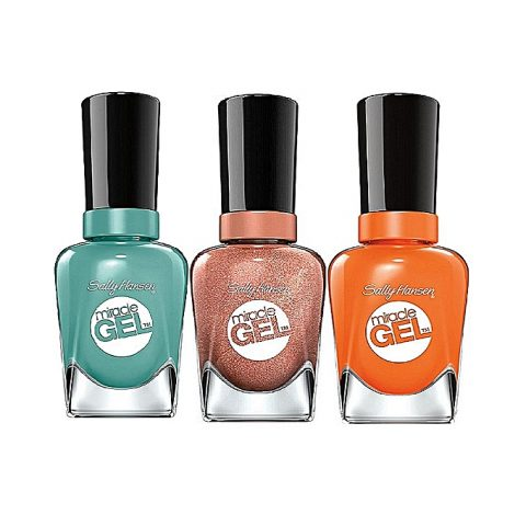 Sally Hansen Miracle Gel Nail Color – Lip Palm, Electra-Cute,Terra-Coppa